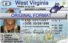 West Virginia Fake ID