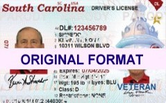 fake id scannable with hologram from south carolina